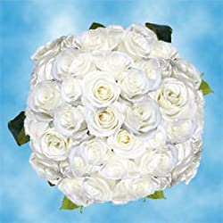 100 Fresh Cut White Roses for Valentine's Day | Tibet Roses | Fresh Flowers Express Delivery | The Perfect Valentine's Day Gift