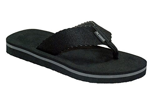 Xtreme Sports Mens Beach-side Comfort Sandal, Black, Size 12US