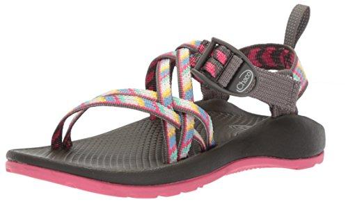 Chaco Girls' ZX1 Ecotread Sport Sandal, fletched Pink, 12 Medium US Little - Pink Rubber Diamond