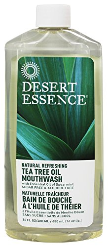 (Desert Essence - Tea Tree Oil Mouthwash Refill   473ml)