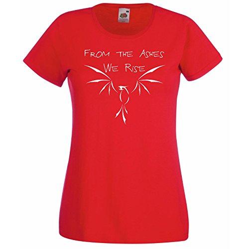 Modèle Femmes Au Gratuit Phoenix Rouge We Of The Cendres shirt Avec Cadeau Décalque De Montant Citation Feu Oiseau T Fruit Hasard Fenix Super Lave Premium La Loom pwv5BqCx