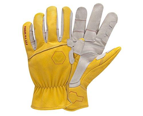 StoneBreaker Gloves Rancher Large Work Glove, Large, Yellow