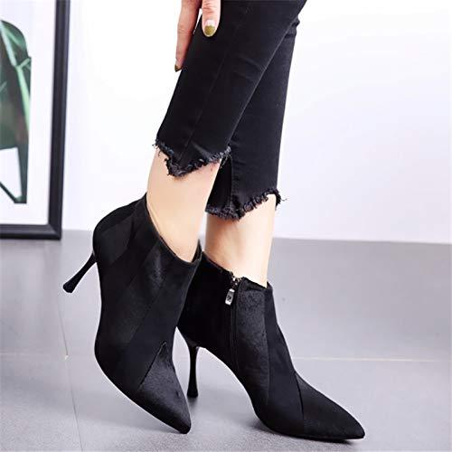 AJUNR AJUNR AJUNR Modische Arbeit Damenschuhe spitz Kanten hohe 8cm dünnen Seite Seite reißverschluss Kurze Stiefel und ohne Stiefel 31e30e