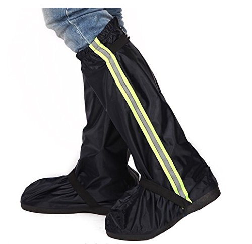 Canister Cover - Unisex Tall Canister Rain Proof Shoes Cover Motorcycle Riding Rian Shoes Rain Boots (BLack, XXL)