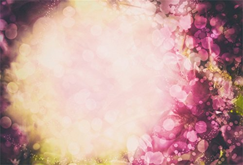 AOFOTO 7x5ft Sweet Flowers Backdrop Dreamy Spring Blossom Cherry Photography Background Hazy Abstract Floral Phot Studio Props Infant Girl Newborn Baby Child Artistic Portrait Vinyl Wallpaper