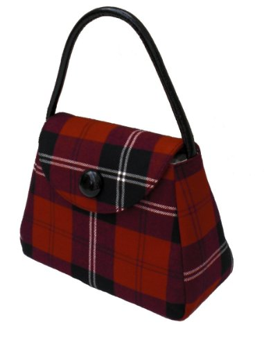 S Red Harris Tartan Tweed Ramsay Handbag Or ZxOfxqU