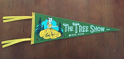 MARK RYDEN SIGNED AUTOGRAPHED TREE SHOW FELT SILKSCREEN PENNANT RARE BECKETT BAS