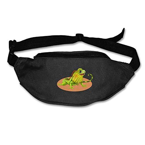 Reptile Lizard Cartoon Running Waist Pack Bag Outdoor Sports Money Holder for Hiking Climbing Men Women