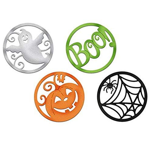 Davitu Pumpkin Spooky Spider Web Boo Halloween Set Dies Stencil Cutting Die for Scrapbooking Halloween Card Creative Knife Mold -