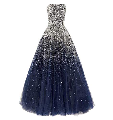 Dressesonline Women's Luxury Prom Dresses Long With Rhinestones Evening Pageant Gowns US6
