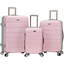 Rockland Melbourne 3 Piece Abs Luggage Set, Mint