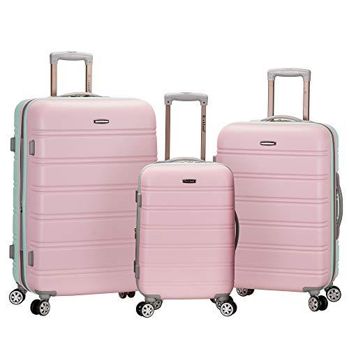 Rockland Melbourne 3 Piece Abs Luggage Set,