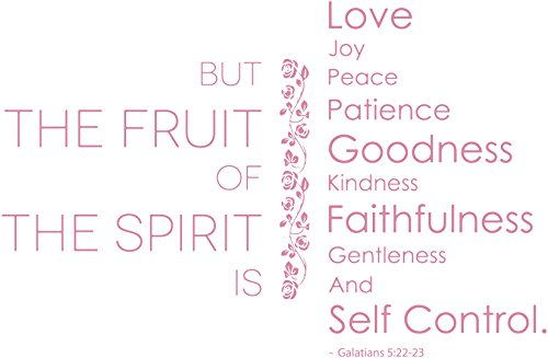 Galatians 5:22-23 - BUT THE FRUIT OF THE SPIRIT… Vinyl Decal Sticker Quote - Small - ()