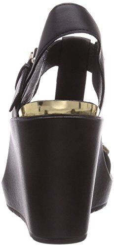 CAFèNOIR Sandal - Sandalias de vestir de material sintético para mujer negro - Schwarz (494 NERO/NERO)