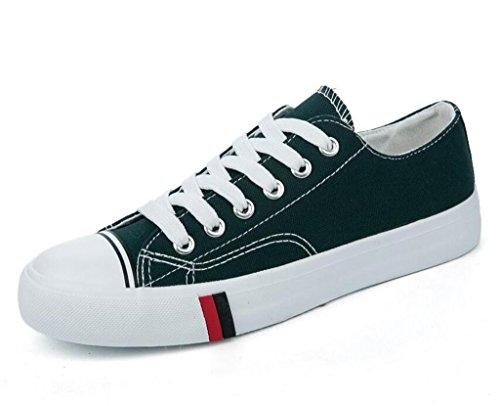 NVXIE Señora Zapatos Confortable Ocio Plano Plano Inferior Alumnos Escuela Compras Diario Cuatro Colores dark green