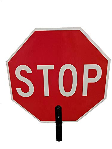Top stop sign for crossing guard