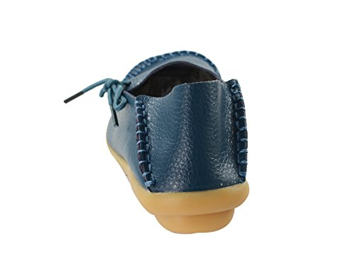Secolo Stella Donna Casual Pelle Bovina Slip-on Slip-on Driving Mocassino Mocassini Pantofole Pantofole Scarpe Da Barca B Navy