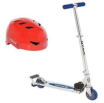 Razor Spark Scooter (Patinete Azul con Casco Rojo): Amazon ...
