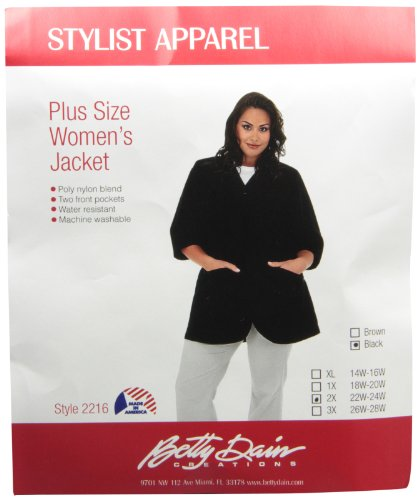 A Size Above Plus Size Salon Stylist Jacket, Chocolate Br...