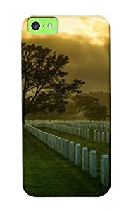 Cpcijs-6434-kgliysz Awesome United Statessan Franciscocemeteryusa Military Flip Case With Fashion Design For Iphone 5c As New Year's Day's Gift