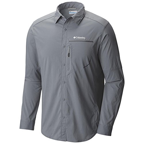 Columbia Mens Trail Strike Long Sleeve Shirt Large Grey Ash