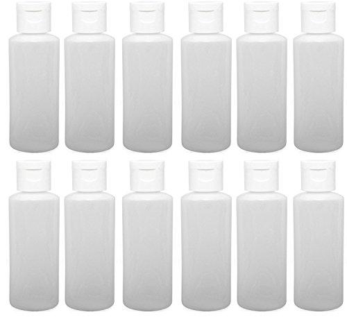 12 2 ounce Travel Bottles White