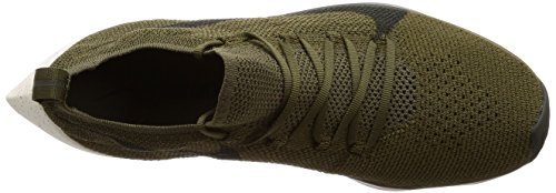 Nike Mens Vapor Street Flyknit, Medium Olive / Sequoia, 9.5 M Us