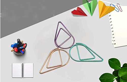para marcap/áginas varios colores Vommpe archivadores estudio escritorio color naranja 2.5 * 1.4CM 10 unidades 2,5 x 1,4 cm Clips de metal con forma de gota de agua suministros de oficina