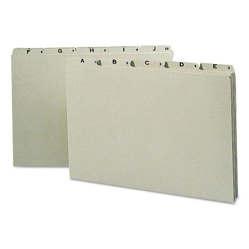 o Smead o - Recycled Top Tab File Guides, Alpha, 1/5 Tab, Pressboard, Legal, 25 per Set