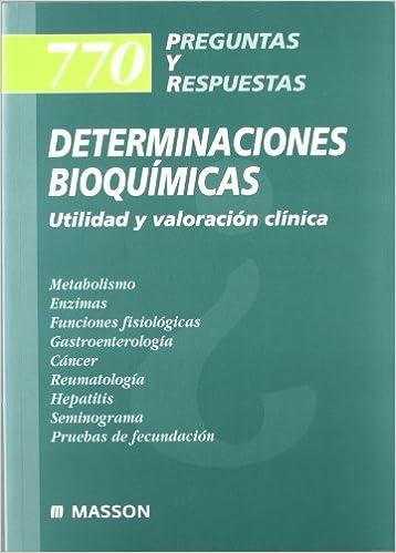 770 Preguntas y Respuestas: Determinaciones Bioquímicas: Amazon.es ...