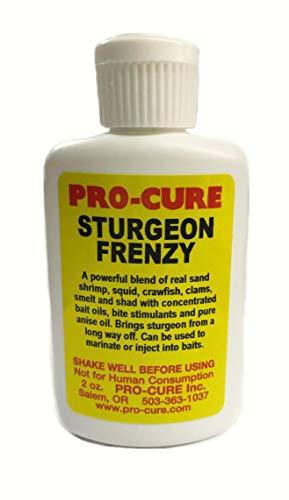 Pro-Cure Sturgeon Frenzy Bait Oil, 2-Ounce (Best Bait For Sturgeon Fishing)