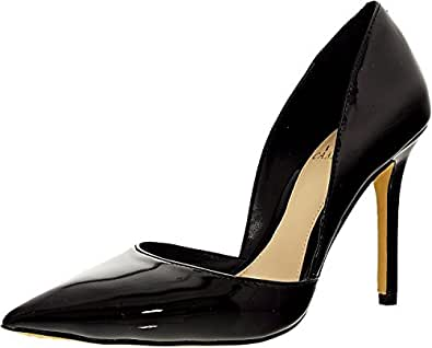Vince Camuto Women's Rowin Leather Black Ankle-High Pump - 7.5M