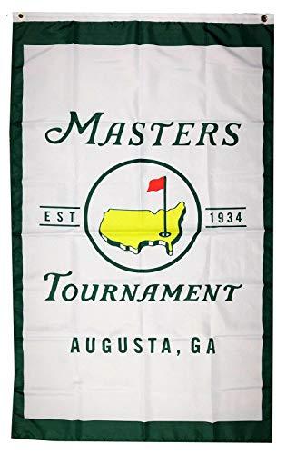 (Mountfly Masters PGA Augusta National Golf Club Vertical Flag Banner 3X5 Feet Man Cave )