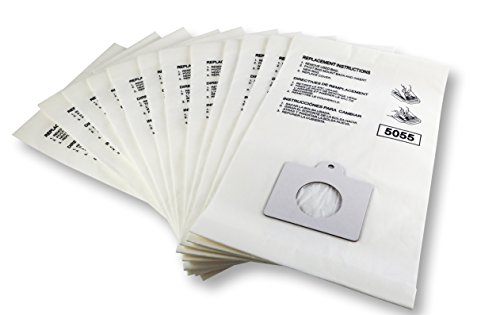 K&J 12-Pack Type Canister Vacuum Bags Compatible All Kenmore Panasonic C-5 & C-18 Vacuums