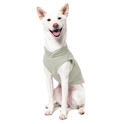 Image of Gooby - Fleece Vest, Small Dog Pullover Fleece Jacket with Leash Ring, Gray, Small