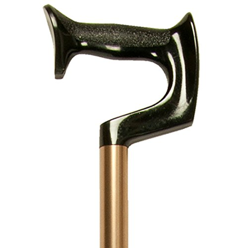 Adjustable Cane, Orthopedic Grip Handle, Lightweight Aluminum, Bronze, Medium Grip