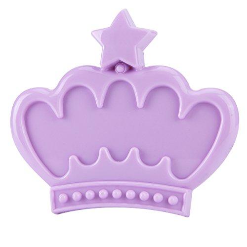 UPC 687345441479, Globeagle Crown Oval Square Nail Art Fingernail Holder Case Display Frame (Purple)