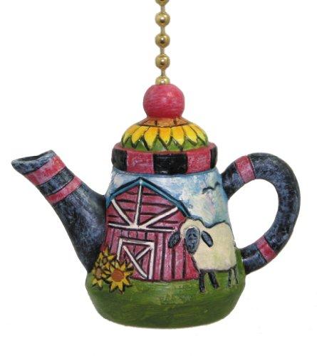 - Clementine Deisgn Lamb Teapot Ceiling Fan Pull Primitive