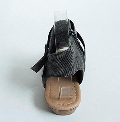 Occasionnels Dentraînement Cheville Pates Bride À Poisson Sandales Slipper Plein TWGDH Bouche Compensées La En Femmes Sandales Air Chaussures Gray Solide Sandales 8wgT7