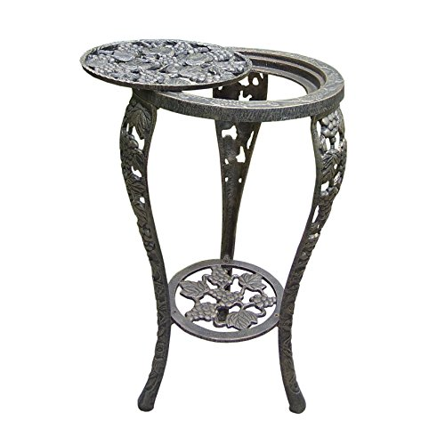 Oakland Living Grape Table Plant Stand, Antique Bronze by Oakland Living