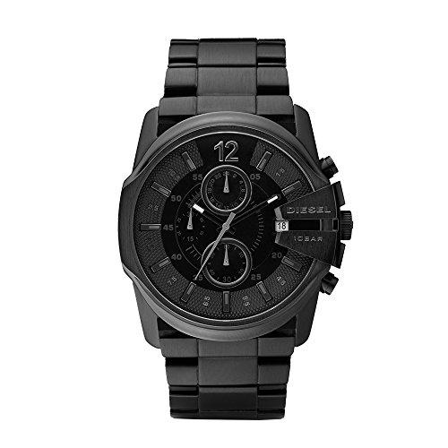- Diesel Men's Master Chief Quartz Stainless Steel Chronograph Watch, Color: Black (Model: DZ4180)
