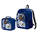 """Officially Licensed NFL Indianapolis Colts """"Accelerator"""" Backpack & Lunch Kit Bag Set, Blue, 16″ x 9.5″ x 12"""