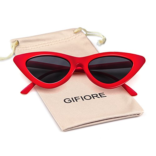 Fashion Retro Vintage (Clout Goggles Cat Eye Sunglasses Vintage Mod Style Retro Kurt Cobain Sunglasses)