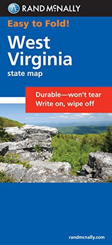 Easy To Fold: West Virginia (Rand McNally Easyfinder)