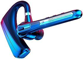 Bluetoothヘッドセット 日本語提示音 Bluetoothイヤホン ワイヤレスイヤホン Bluetooth5.0 16時間連続使用 マイク内蔵 ビジネス 耳掛け型 ハンズフリー通話 片耳型 CVC8.0ノイズキャンセリング ミュート機能...
