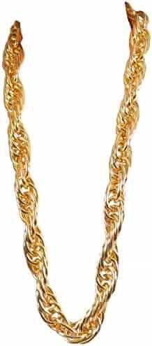 Arsimus Heavy 40-Inch Gold Pimp Rapper Chain Necklace