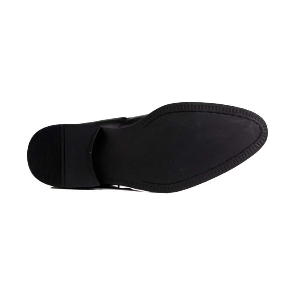 ZPEDY Männer, High Top Schuhe, England, Spitz, Koreanisch, Einfach Kurze Stiefel, Gezeiten, Bequem, Einfach Koreanisch, schwarz 604ef2
