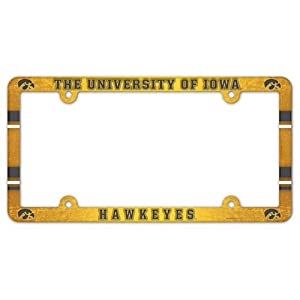 WinCraft NCAA License Plate with Full Color Frame, Iowa Hawkeyes