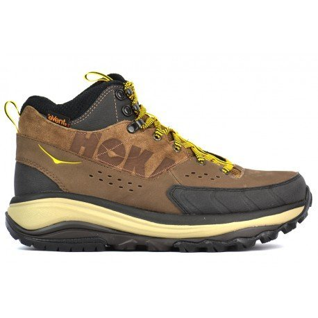HOKA ONE ONE Tor Summit Mid WP Running Shoe - Men's Brown/Golden Rod 7