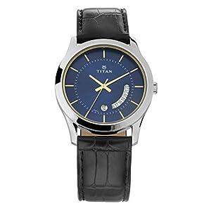 Titan Gents Karishma Analog Blue Dial Men's Watch-NM1823SL01 / NL1823SL01
